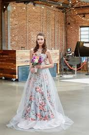 floral wedding dresses floral print wedding dresses for 2016 mywedding