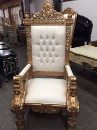 king chair rental large gold throne king chair and groom chair for table