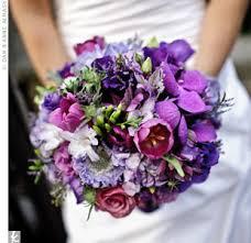 purple bouquets purple wedding flowers my bridal