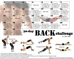 Challenge Not Working 30 Day Back Workout Challenge Search Working Out
