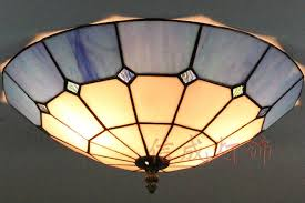 Yellow Glass Ceiling Light Flush Mount Stained Glass Ceiling Light Ceiling Designs