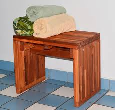 Wooden Shower Stool Modern Wood Shower Bench Forever Redwood
