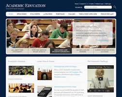 academic education website template free website templates os