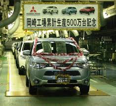 mitsubishi japan five millionth car produced at mitsubishi u0027s okazaki plant is