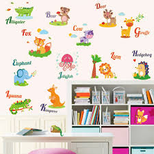 Kids Room Decals by Free Shipping 1pcs Diy Vocabulary Animal Glow Kids Room Decals