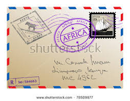 retro postal envelope template colorful postage stock vector
