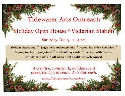 holiday open house w tao at victorian station on 12 9 tidewater