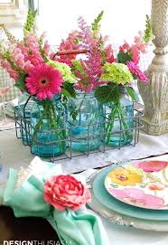 Mason Jar Arrangements How To Use Mason Jar Centerpieces To Add Color To Your Table