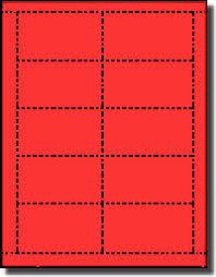 Avery Laser Business Cards Laser And Inkjet Printable Both Sides Business Cards Rocket Red