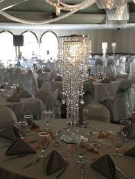 Wedding Centerpieces With Crystals by Chandelier Centerpiece Or Use Foamcore Or Mirror On Top And Hang