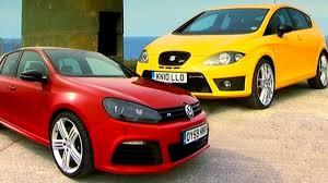 Vw Golf R Seats Vw Golf R Vs Seat Leon Cupra R Fifth Gear Youtube