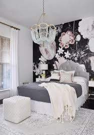 top 10 posts of 2016 floral wall wall murals and bedrooms gray black and blush floral wall mural as an accent wall in bedroom