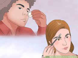 how to become makeup artist 3 ways to become a horror makeup artist wikihow