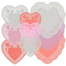 heart shaped doilies bulk assorted heart shaped paper doilies at dollartree