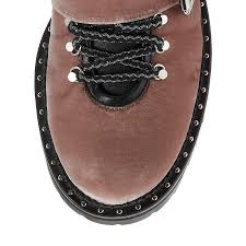 slip on biker boots ballet pink velvet biker boots blanche flat aw17 jimmy choo