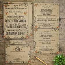 modern vintage wedding invitation by gray starling designs