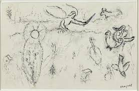 adam and eve expelled from paradise 1961 marc chagall wikiart org