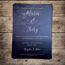 navy blue wedding invitations navy blue wedding invitation starry wedding invitation