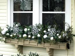 window box decorated for winter christmas tree shop planter boxes
