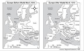 post ww1 map map before and after ww1 my