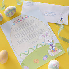 personalized easter bunny personalized letter from the easter bunny