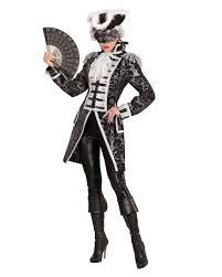 Venetian Halloween Costumes Venetian Ladies Tailcoat Silver Black Buy Horror Shop