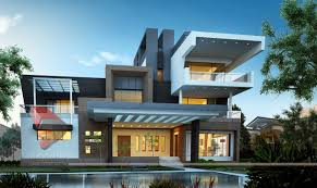 house 3d interior exterior design rendering modern home designs