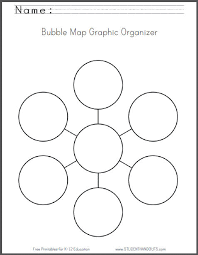 bubble map free printable worksheet student handouts