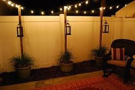 post to hang string lights if i have a small backyard this is how i d want it lit up m a k e