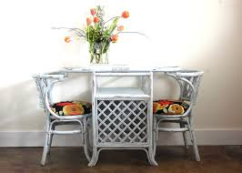 endearing design of wicker counter stool with low back hardwood