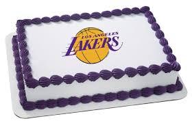 basketball cake toppers nba la lakers ep4706 8 99 edible prints frosting