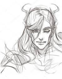 vector hand drawing art sketch concept of fantasy elf u2014 stock