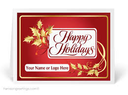 custom industry holiday cards harrison greetings business