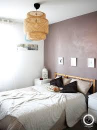 chambre osier chambre taupe et blanc matières naturelles brutes osier bois