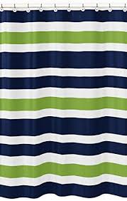 Bright Green Shower Curtain Sweet Jojo Designs Navy Blue Lime Green And White