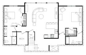 modern architecture floor plans modern rectangular house plans rectangle single level house plans