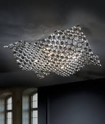 Large Semi Flush Ceiling Lights Semi Flush Clear And Smoked Ceiling Light
