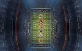 broncos wallpaper schedule