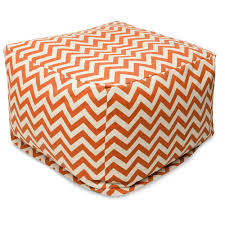 Orange Ottoman Outdoor Furniture Bean Bag Ottomans Majestic Home Goods
