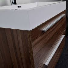 Contemporary Bathroom Vanities Buy 31 5 In Wall Mount Contemporary Bathroom Vanity Set In Walnut