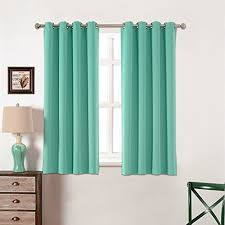 Teal Eyelet Blackout Curtains Teal Curtains Amazon Com