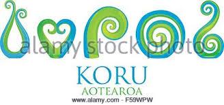 new zealand silver fern koru maori symbol of renewing stock