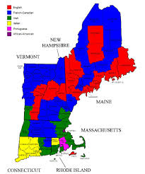 Map Of New England by Afternoon Map Ethnic Maps Of New England