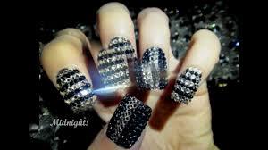 new 2013 nail designs swarovski style youtube