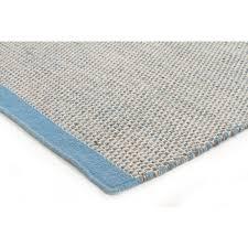 Blue Wool Rug Toledo Light Blue Woven Wool Rug