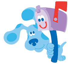 image blue u0027s clues blue and mailbox postbox png blue u0027s clues