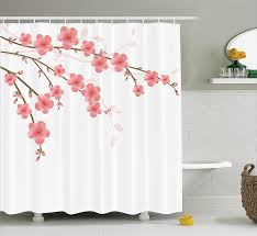 Shower Curtains With Quotes Amazon Com House Decor Shower Curtain Set By Ambesonne Cherry