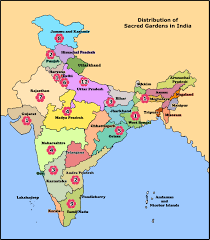 Agra India Map by Sacred Gardens