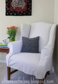 Armchair Slipcovers Design Ideas Furniture Clean White Wingback Chair Slipcover Appealing