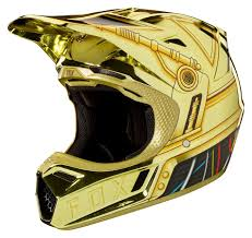 fox motocross helmets sale fox racing v3 c3po le helmet revzilla